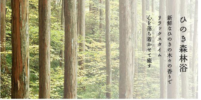 バスソルト「ひのき森林浴」心を落ち着かせて癒す
