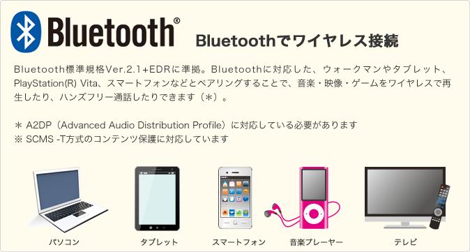 Bluetoothでワイヤレス接続が可能なスピーカー